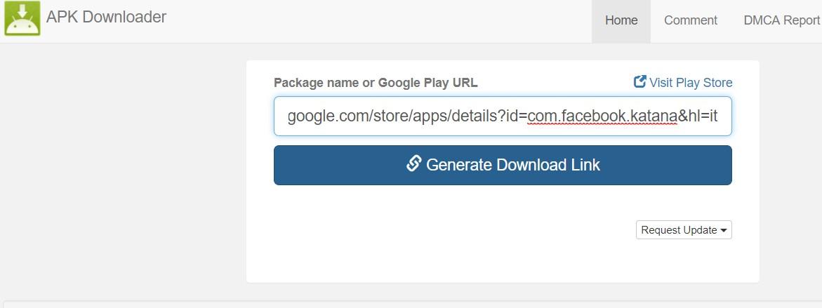 Download APK dal Play Store APK Downloader