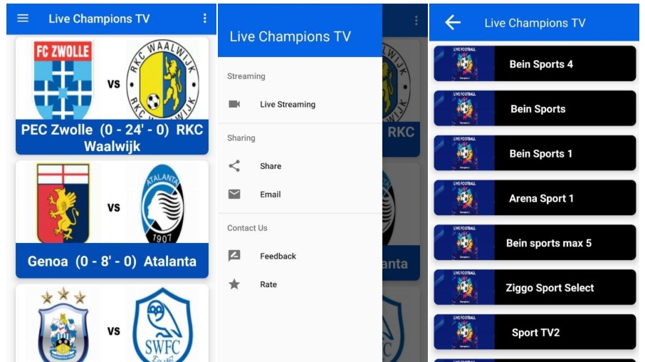 Live Football TV Android Sport IPTV