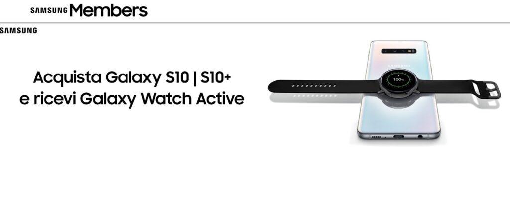 Promo Galaxy Watch Gratis se compri Galaxy S10