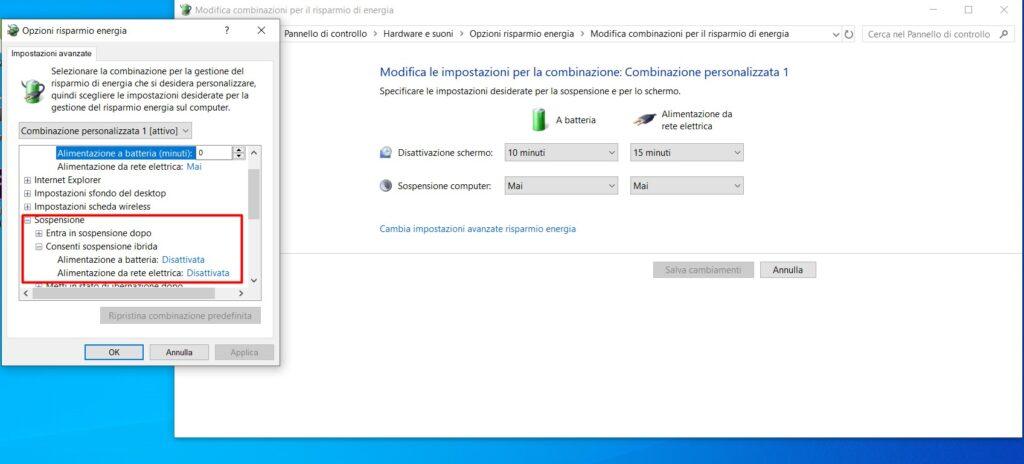 Sospensione Ibrida Windows