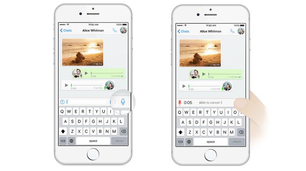 WhatsApp Messaggi Vocali iOS