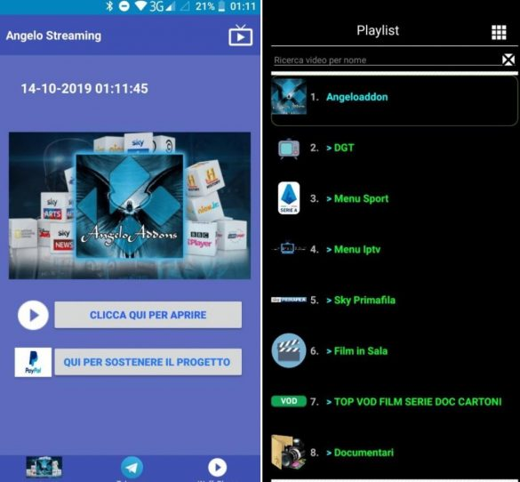 AngeloTV Android App Streaming
