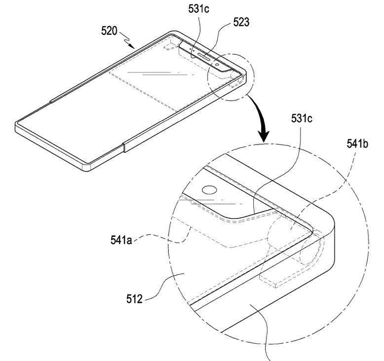 Samsung Display pieghevole arrotolato
