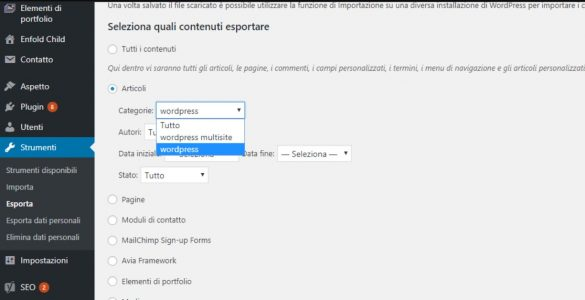 Spostare Articoli Wordpress in Categorie e TAG