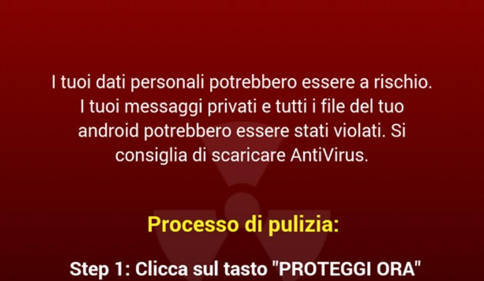 Schermata Virus Android