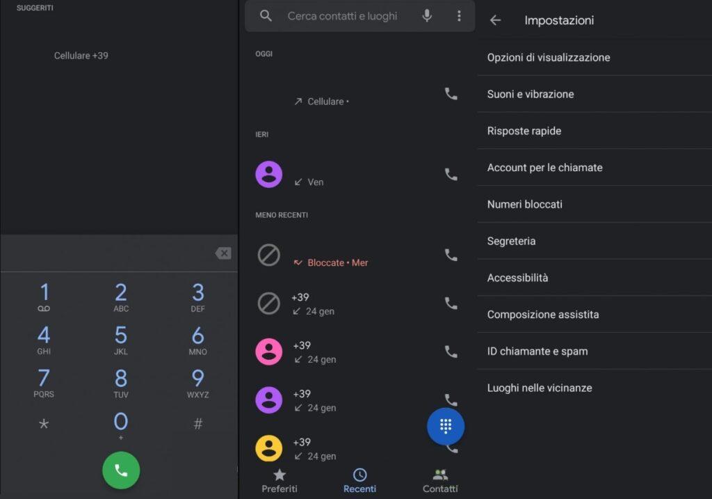 App Telefono Android Stock