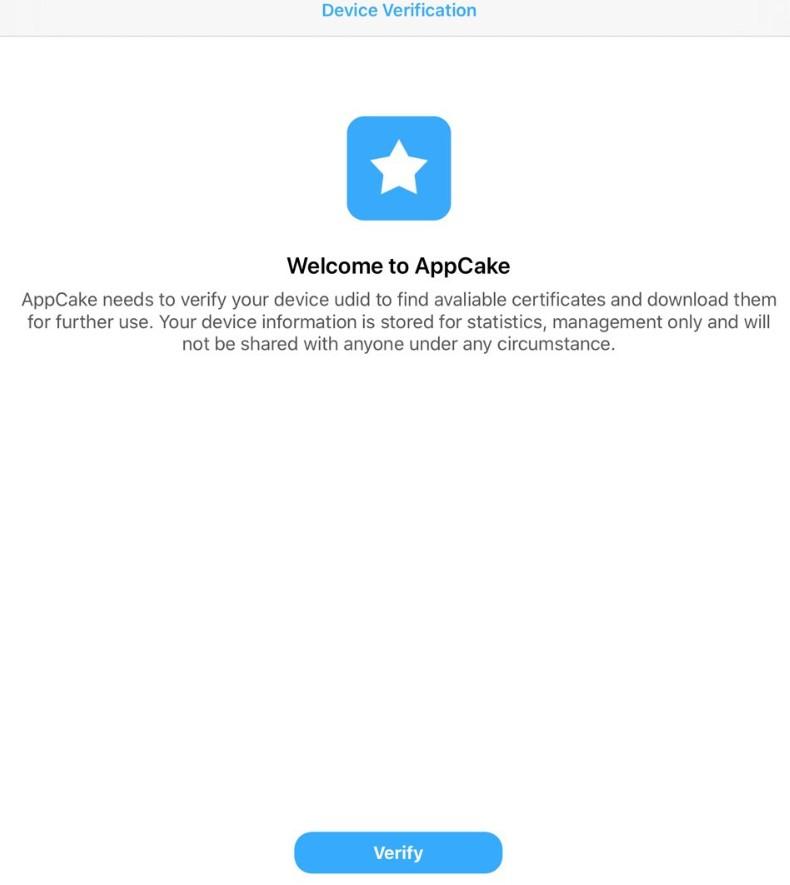 Apple AppCake Verifica