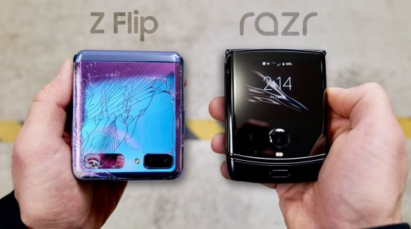 Drop Test Z Flip vs Razr