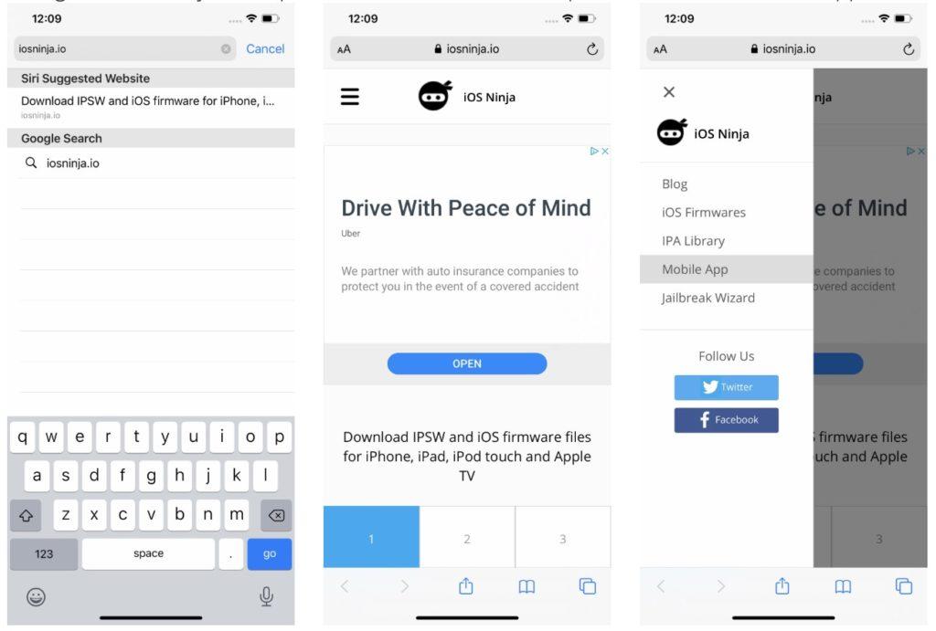iOS Ninja Web Page