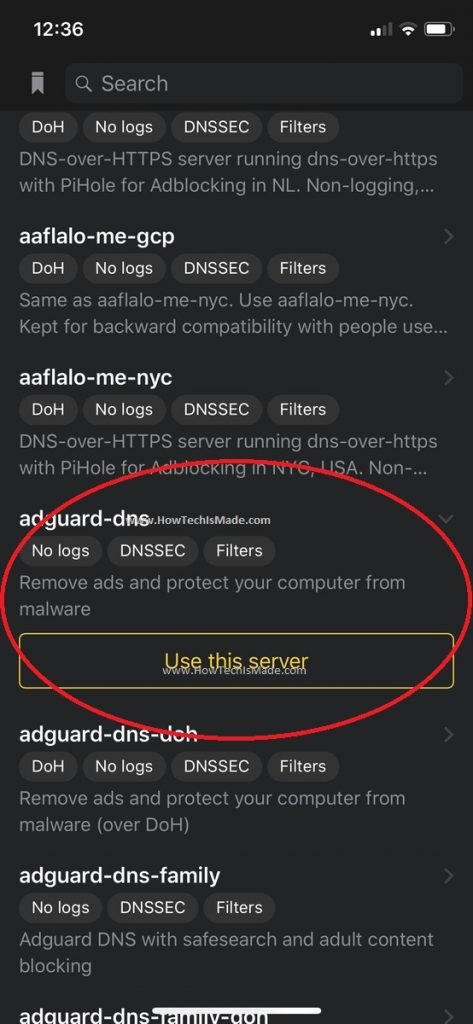 DNSCloak Config Step 4