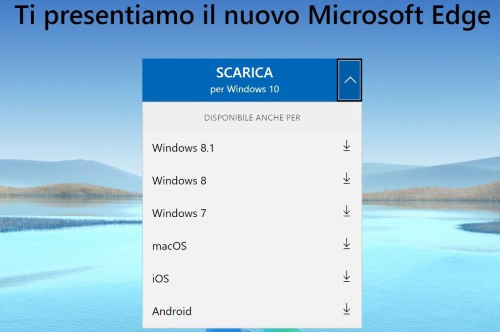 Microsoft Edge OS Support
