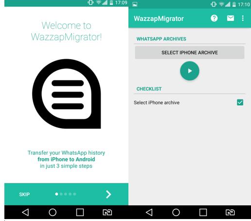 WhatsApp Migrator Start