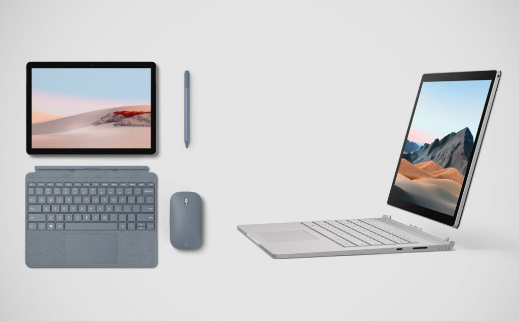 Microsoft Surface Book 3 and Surface Go 2