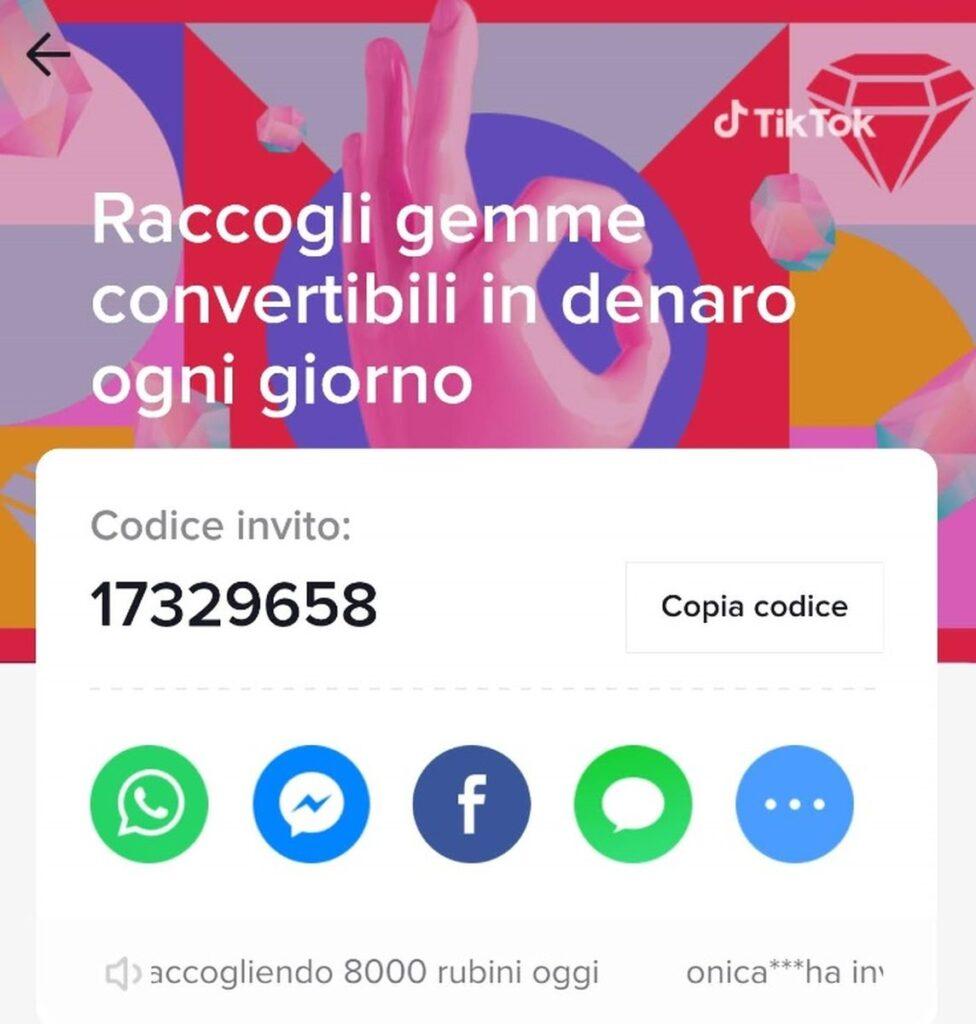 TikTok Codice Invito