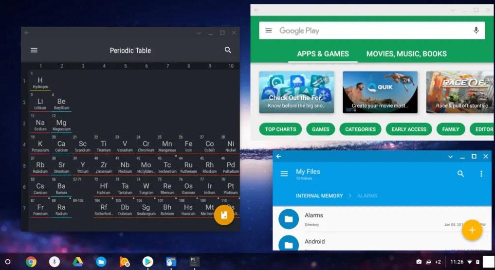 Chrome OS Home Screen