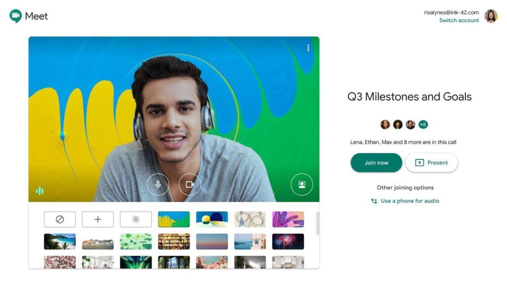 Google Meet Sfondi Personalizzati