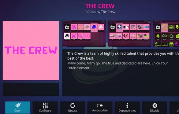 The Crew Addon Kodi