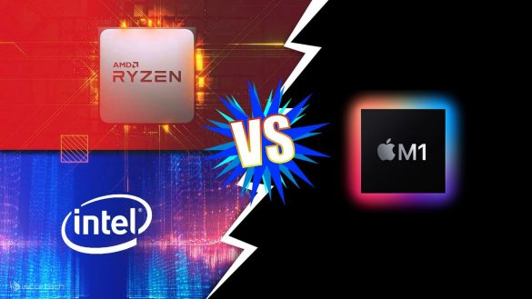 Intel AMD CPU vs Apple M1