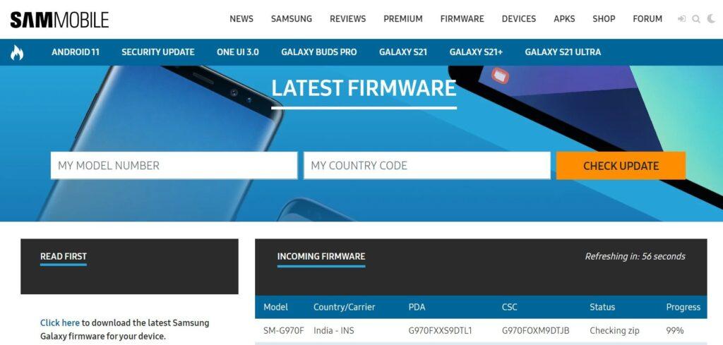 SamMobile Lastest Firmware