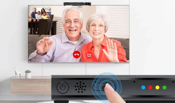Mecool Now Android TV con WebCam