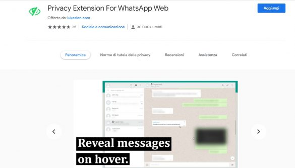 Privacy Extension For WhatsApp Web