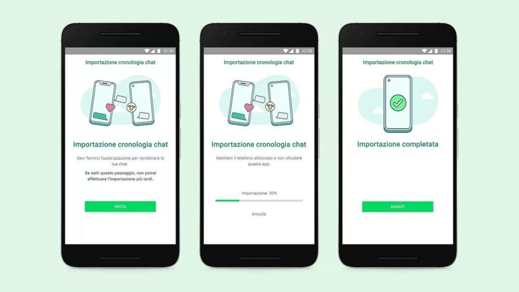 WhatsApp Trasferimento Chat iOS-Android in Italia